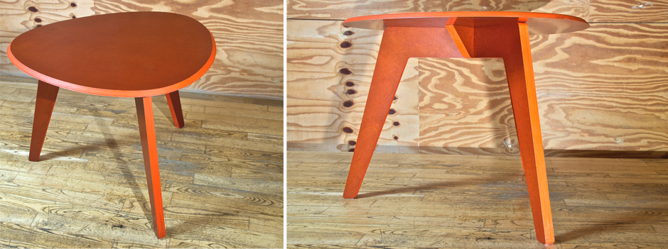REDUX smooth serie ovale orange table